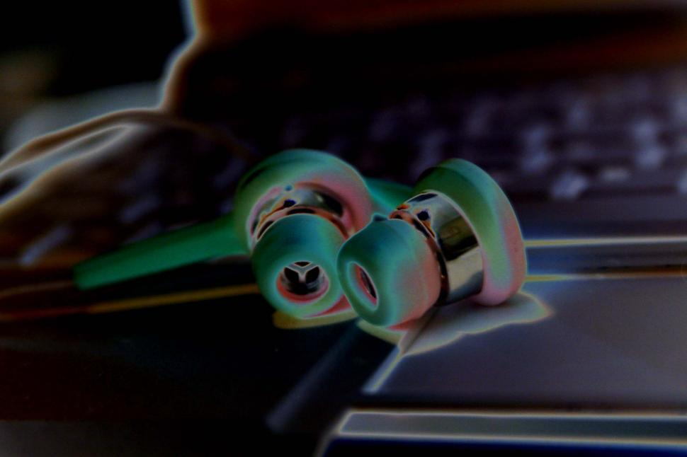 Download Free Stock HD Photo of Earbuds - solarized Online