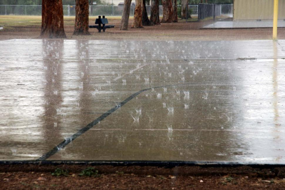 Download Free Stock HD Photo of Rain on concrete Online