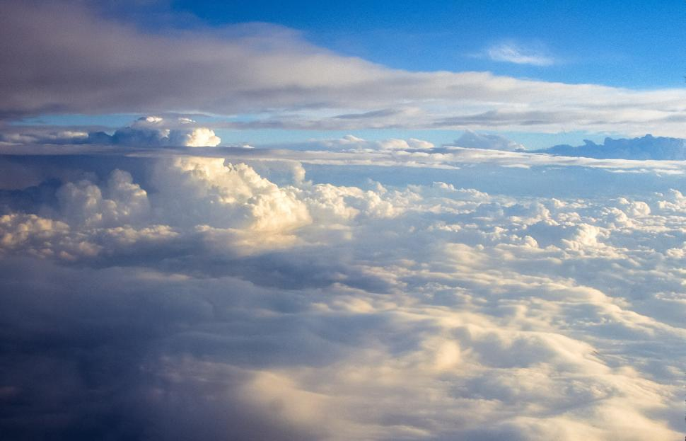 Download Free Stock HD Photo of Clouds from above Online