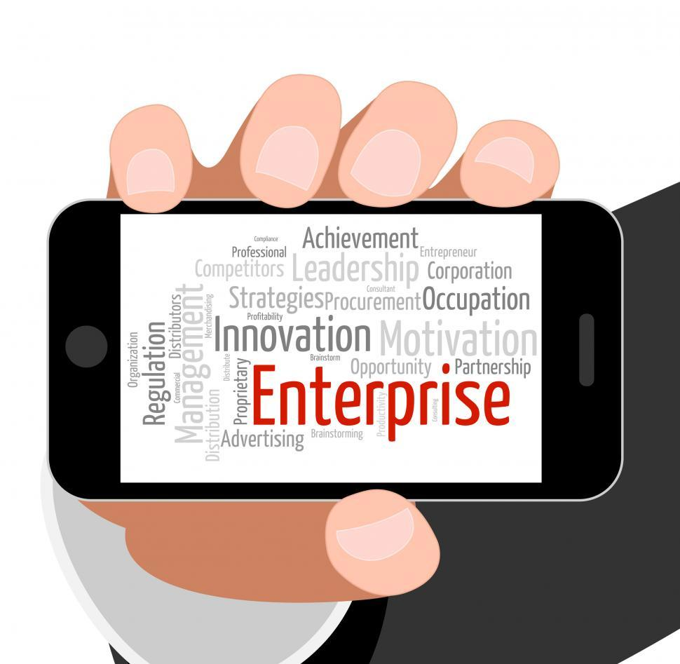 Download Free Stock HD Photo of Enterprise Word Indicates Concern Venture And Words Online
