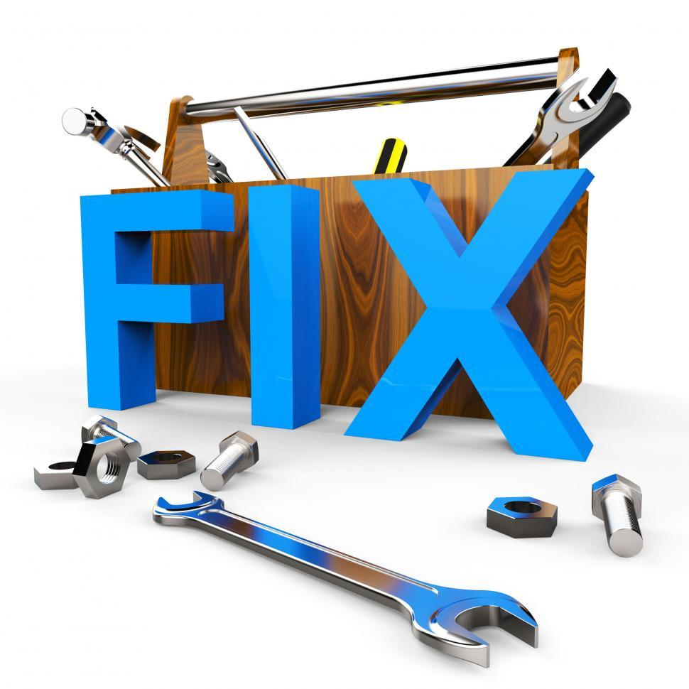 Download Free Stock HD Photo of Fix Word Indicates Mend Repairs And Device Online
