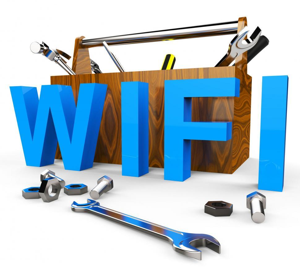 Download Free Stock HD Photo of Wifi Tools Shows World Wide Web And Access Online