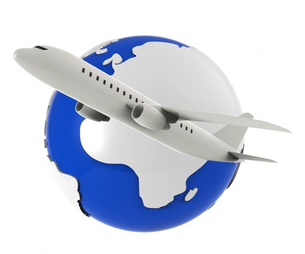 Download Free Stock HD Photo of Worldwide Flights Represents Travel Plane And Airplane Online