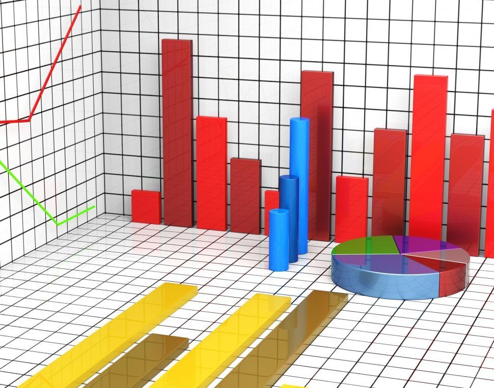 Download Free Stock HD Photo of Graph Report Shows Statistic Statistics And Infochart Online