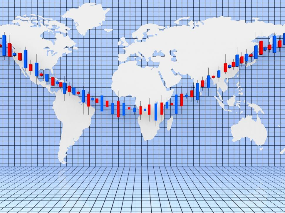 Download Free Stock HD Photo of Stocks Graph Shows World Wide And Diagram Online