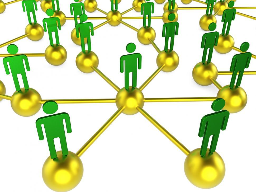 Download Free Stock HD Photo of People Network Indicates Chat Digital And Communicating Online