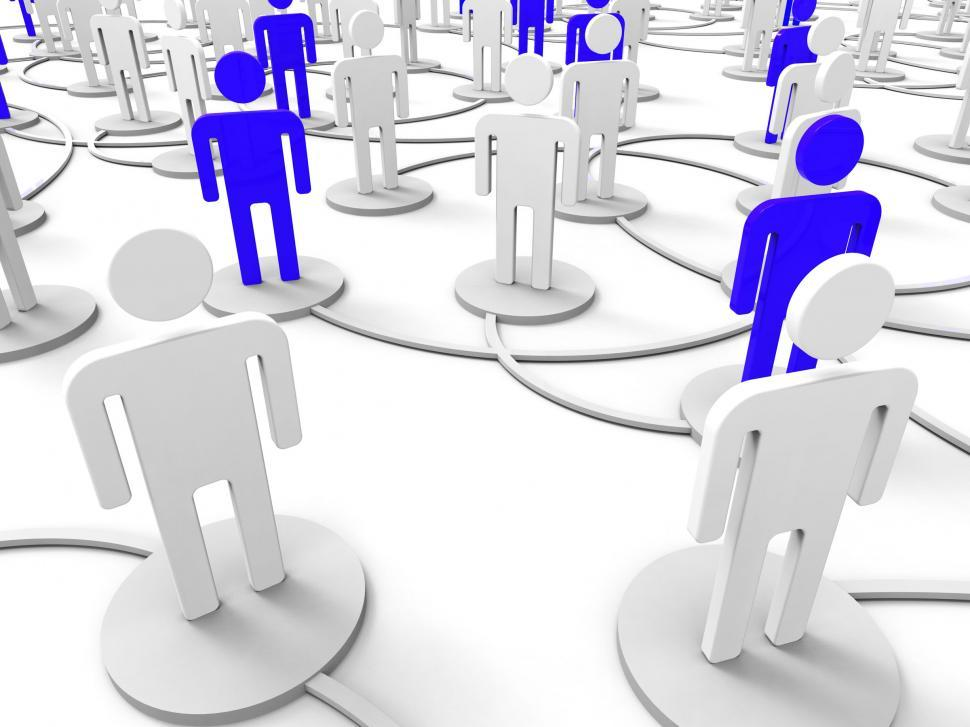 Download Free Stock HD Photo of People Network Shows Togetherness Debate And Together Online