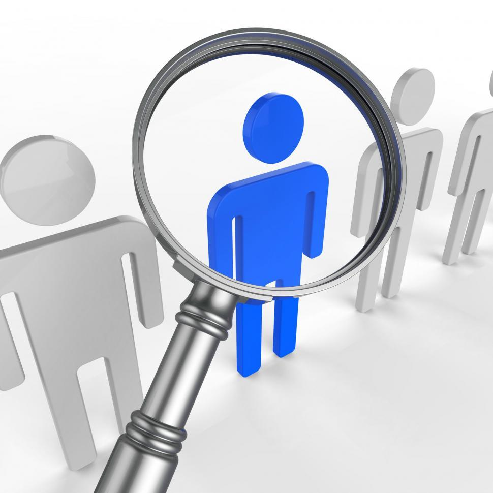 Download Free Stock HD Photo of Finding Staff Represents Strong Point And Brilliance Online