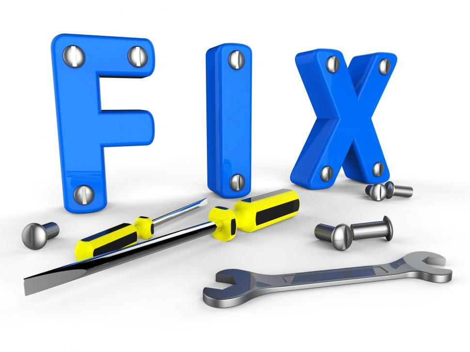 Download Free Stock HD Photo of Fix Word Means Mends Mend And Maintenance Online