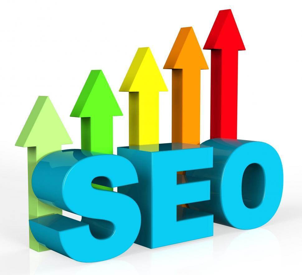 Download Free Stock HD Photo of Improve Seo Shows Gathering Data And Advancing Online