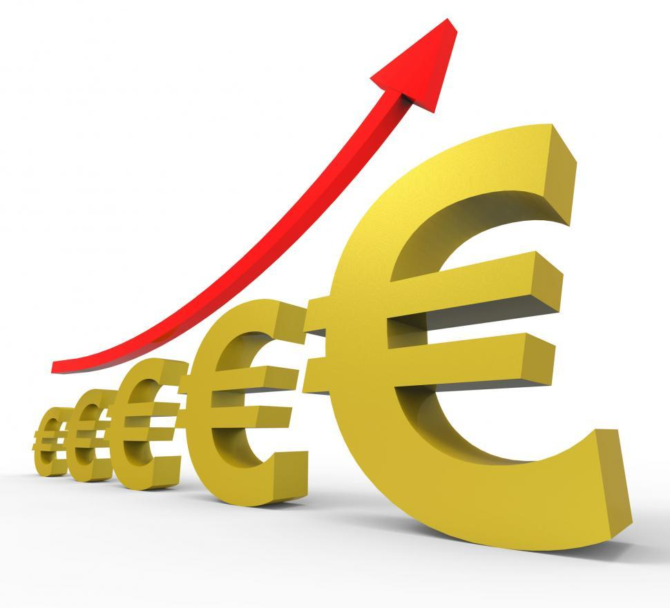Download Free Stock HD Photo of Gpp Increasing Shows Euro Sign And Accounting Online