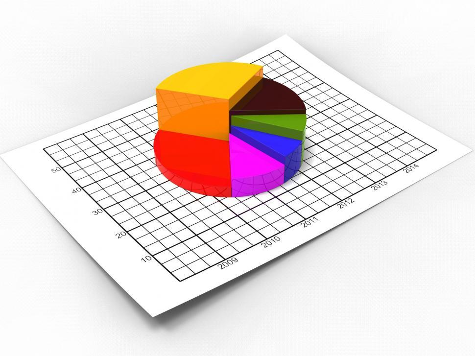 Download Free Stock HD Photo of Pie Chart Shows Business Graph And Biz Online