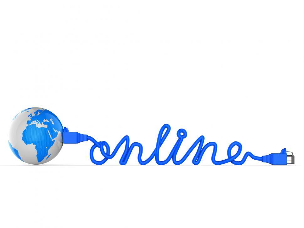Download Free Stock HD Photo of Internet Online Means World Wide Web And Earth Online