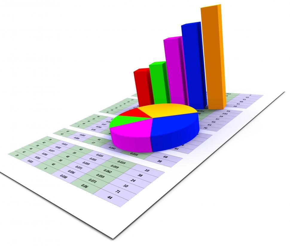 Download Free Stock HD Photo of Pie Chart Indicates Stat Graphics And Infochart Online