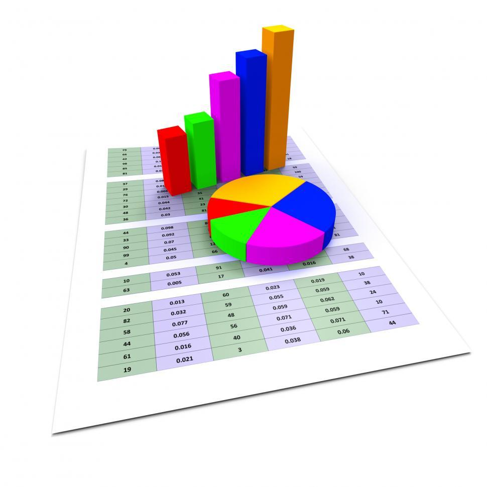 Download Free Stock HD Photo of Pie Chart Shows Business Graph And Charting Online