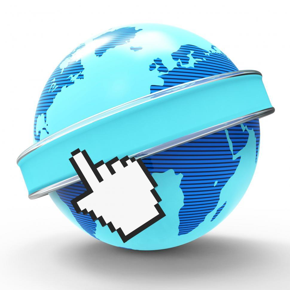 Download Free Stock HD Photo of Global Internet Indicates World Wide Web And Copy-Space Online