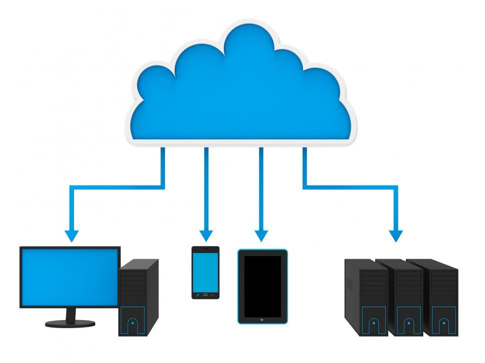 Download Free Stock HD Photo of Internet Cloud Network Means World Wide Web And Websites Online