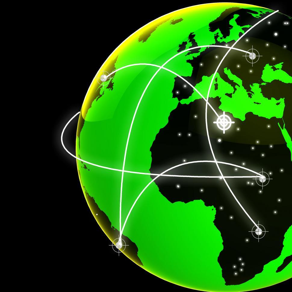 Download Free Stock HD Photo of Global Network Indicates Digital Communication And Globe Online