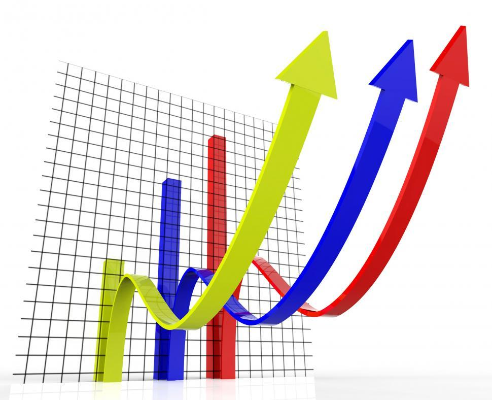 Download Free Stock HD Photo of Increasing Graph Indicates Growing Upward And Forecast Online