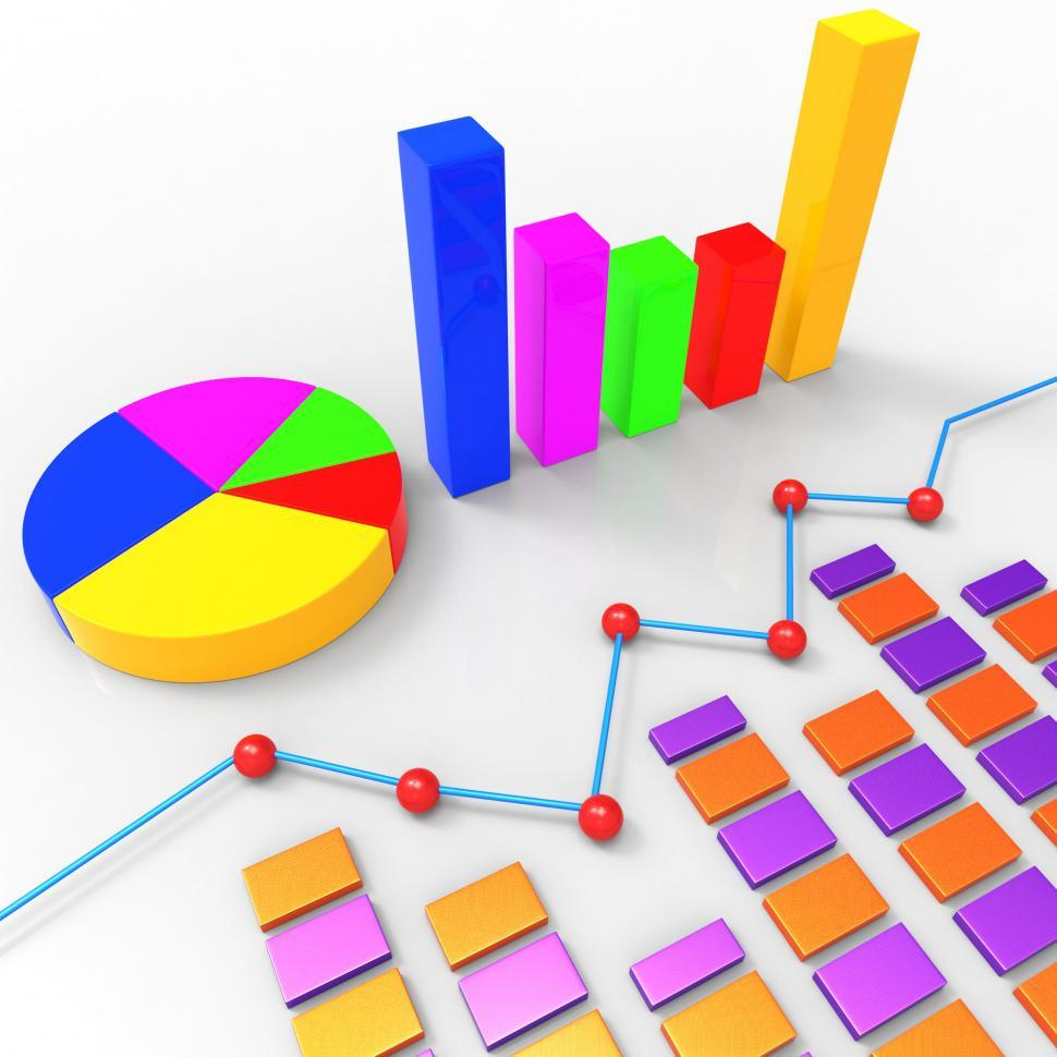 Download Free Stock HD Photo of Graph Report Represents Trend Graphics And Finance Online