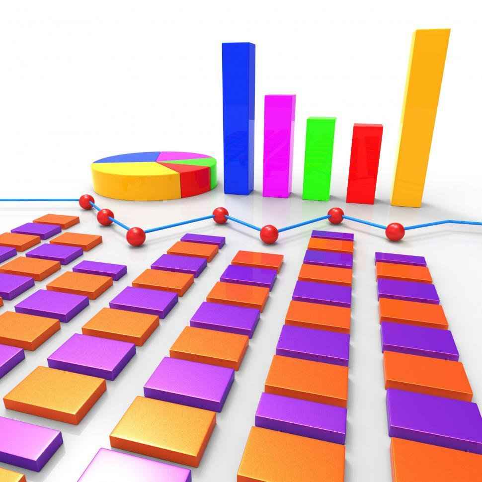 Download Free Stock HD Photo of Graph Report Means Finance Data And Information Online
