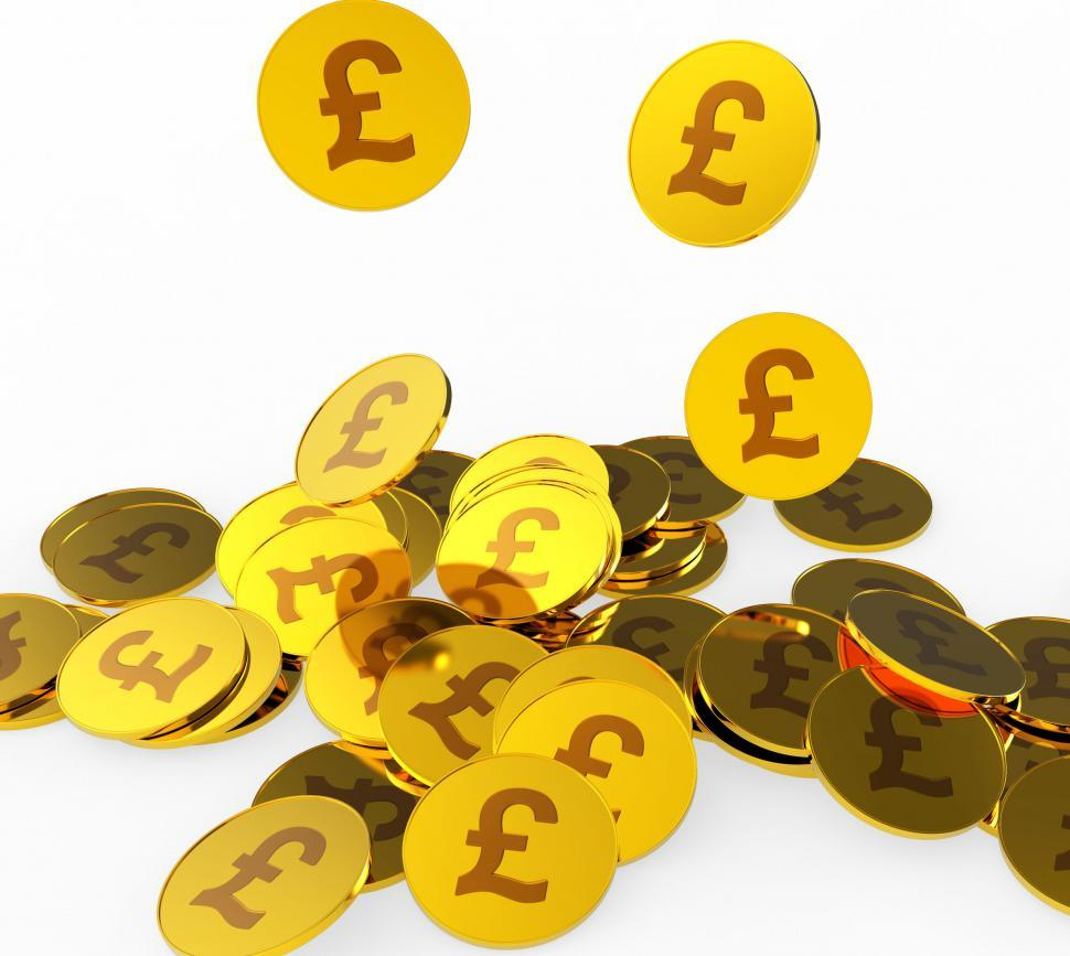 Download Free Stock HD Photo of Pound Coins Shows British Pounds And Finance Online