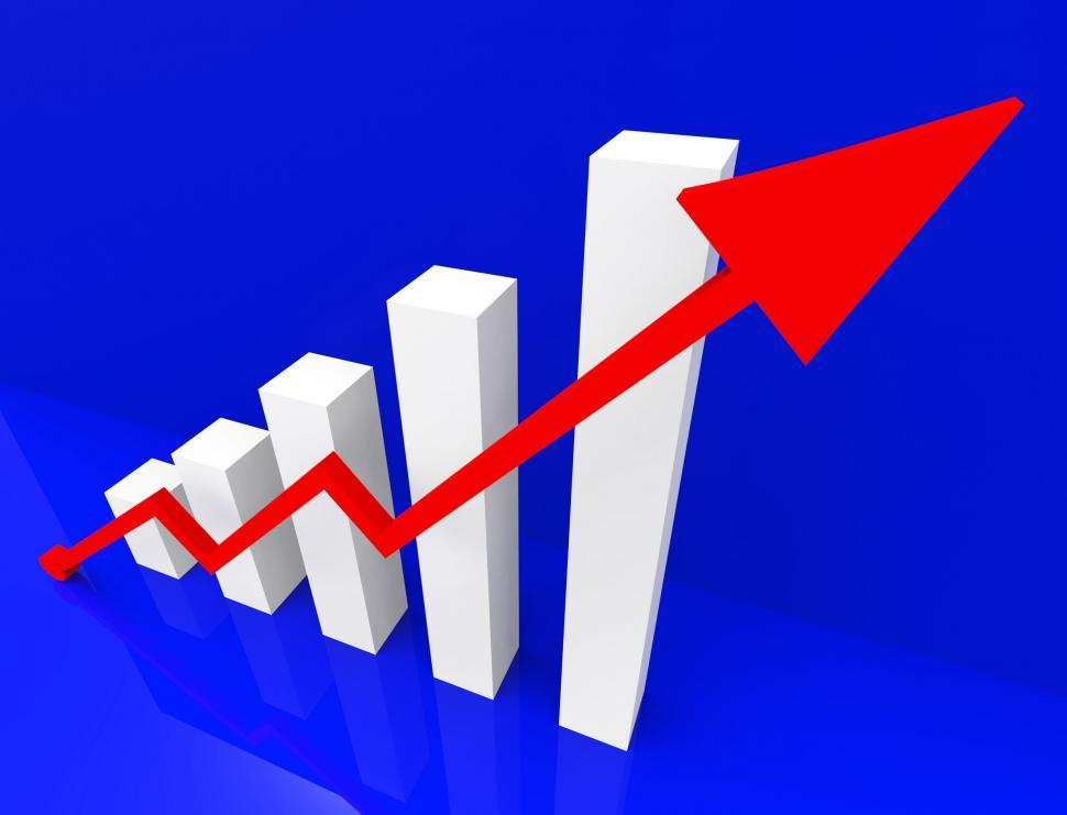Download Free Stock HD Photo of Graph Increasing Shows Financial Report And Advance Online