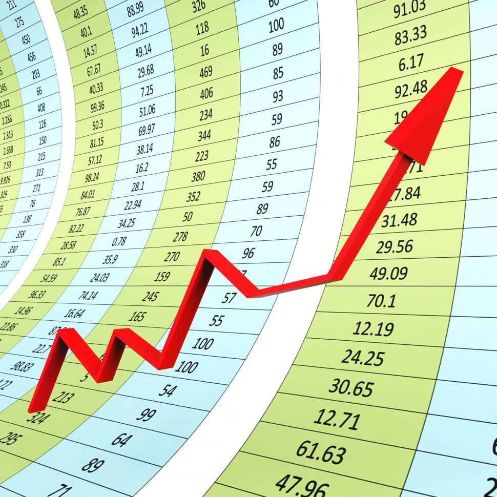 Download Free Stock HD Photo of Progress Graph Indicates Raise Graphs And Infochart Online