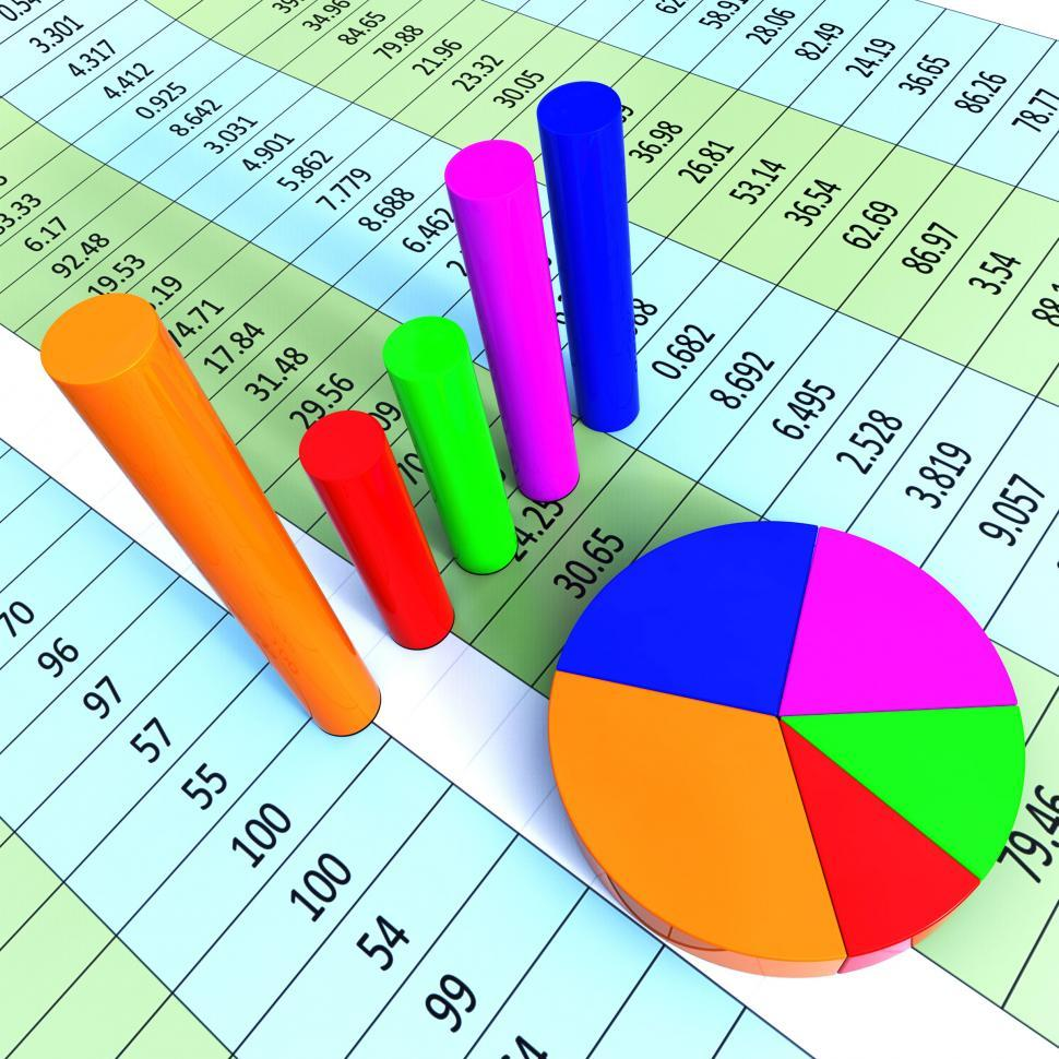 Download Free Stock HD Photo of Graph Report Represents Trade Corporate And Finance Online