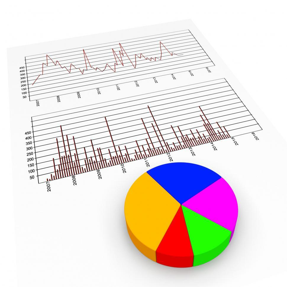 Download Free Stock HD Photo of Graph Report Means Biz Trade And Diagram Online