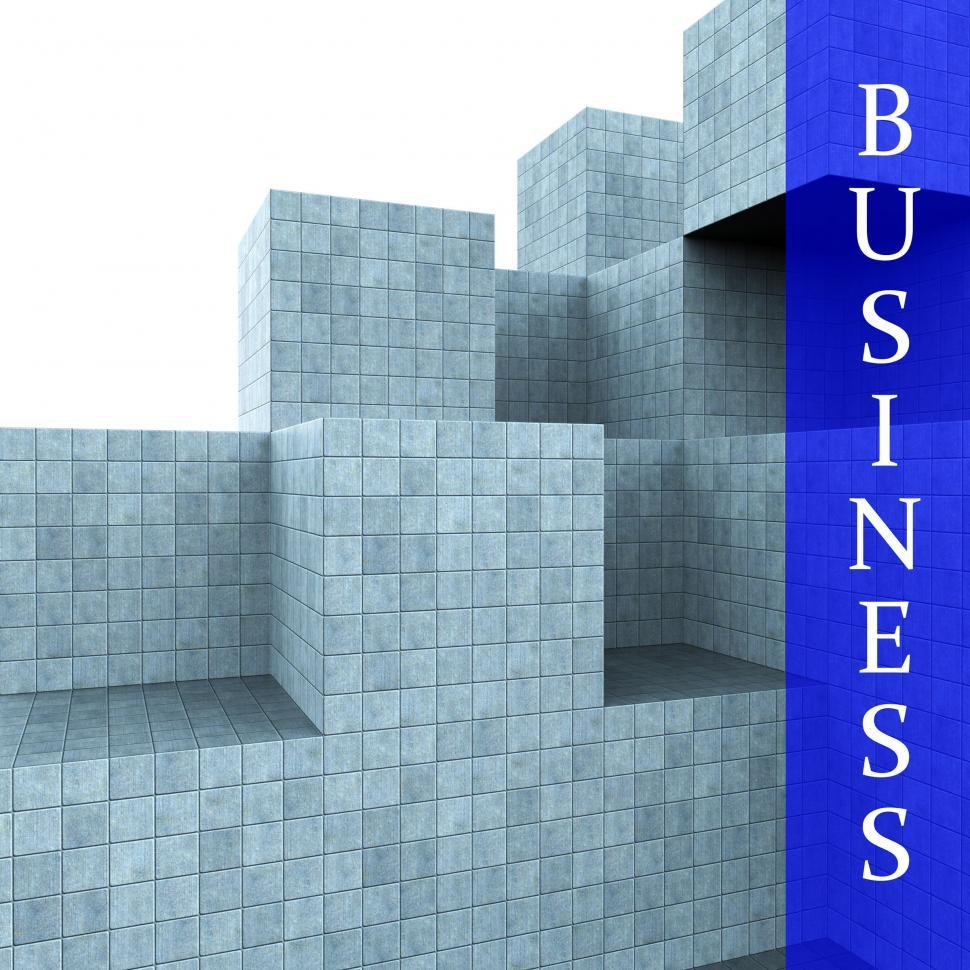 Download Free Stock HD Photo of Business Blocks Design Means Building Activity And Construction Online