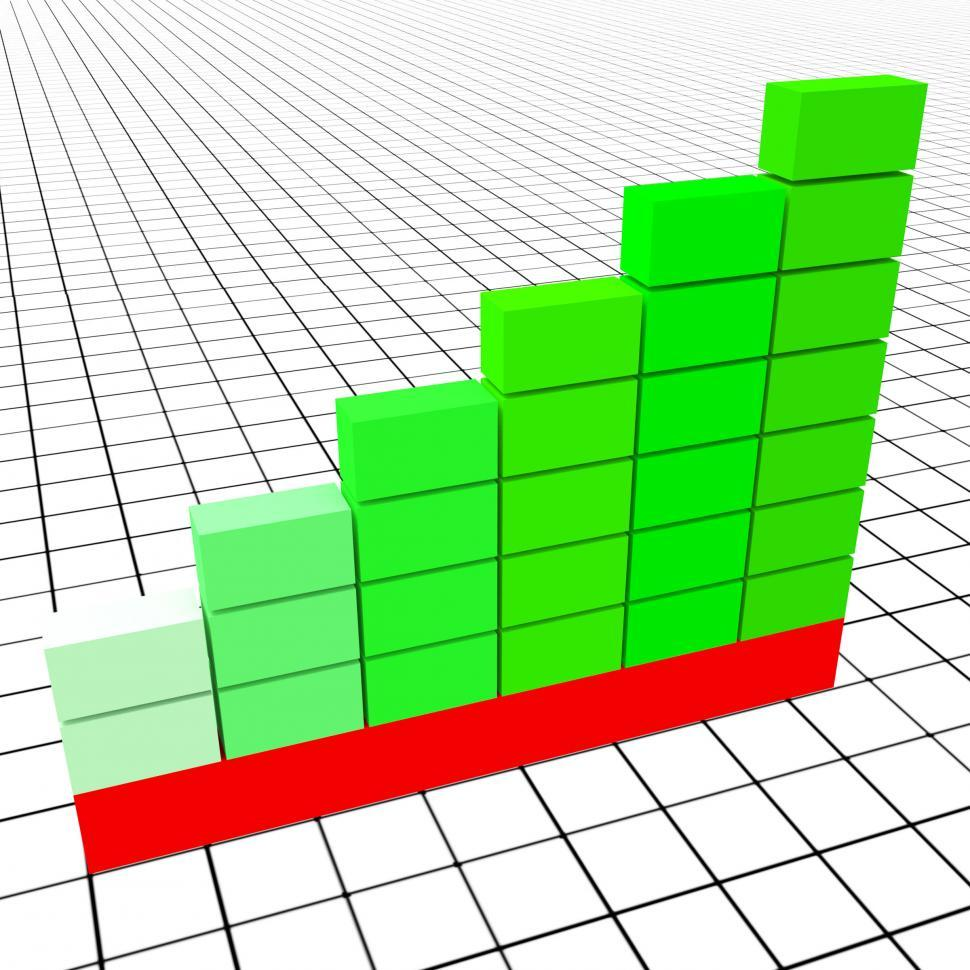 Download Free Stock HD Photo of Increase Graph Represents Text Space And Copy Online