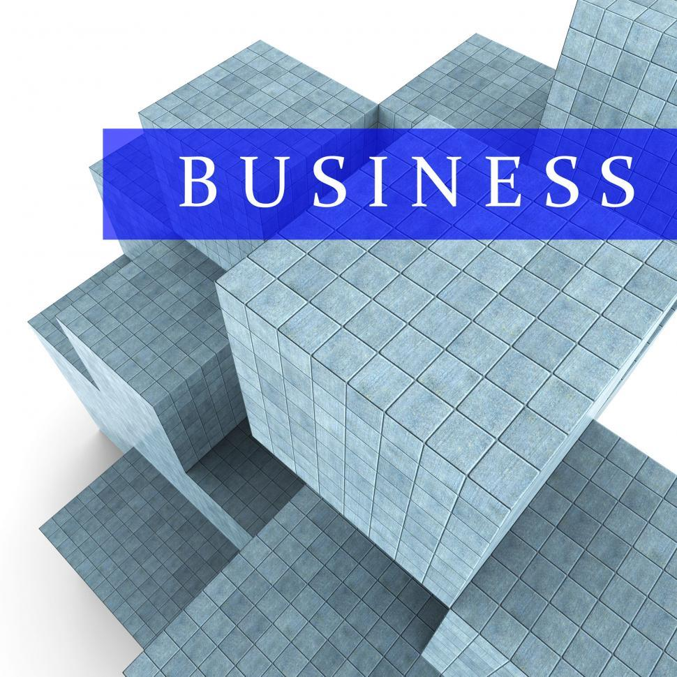 Download Free Stock HD Photo of Business Blocks Design Represents Building Activity And Commerci Online