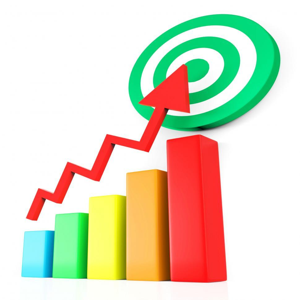 Download Free Stock HD Photo of Target Report Represents Business Graph And Analysis Online
