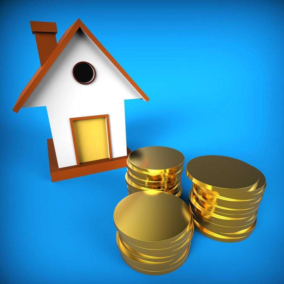 Download Free Stock HD Photo of Real Estate Mortgage Shows Pre Payment And Building Online