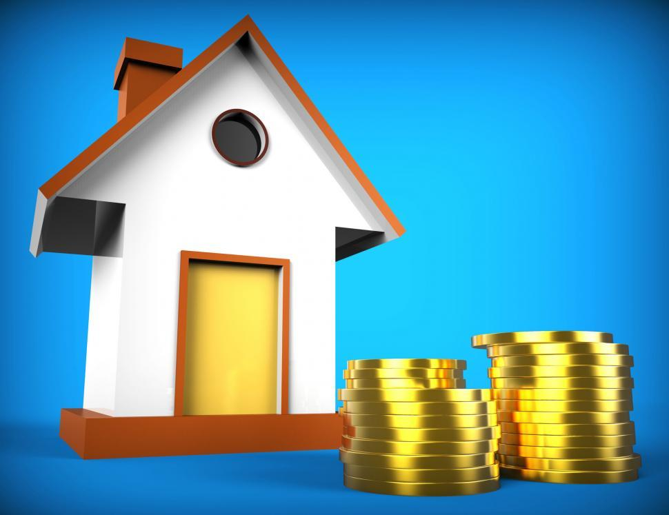 Download Free Stock HD Photo of Real Estate Mortgage Represents On The Market And Advance Online