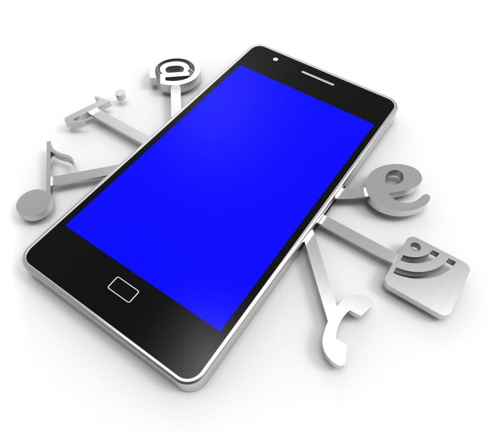 Download Free Stock HD Photo of Social Media Phone Represents News Feed And Application Online