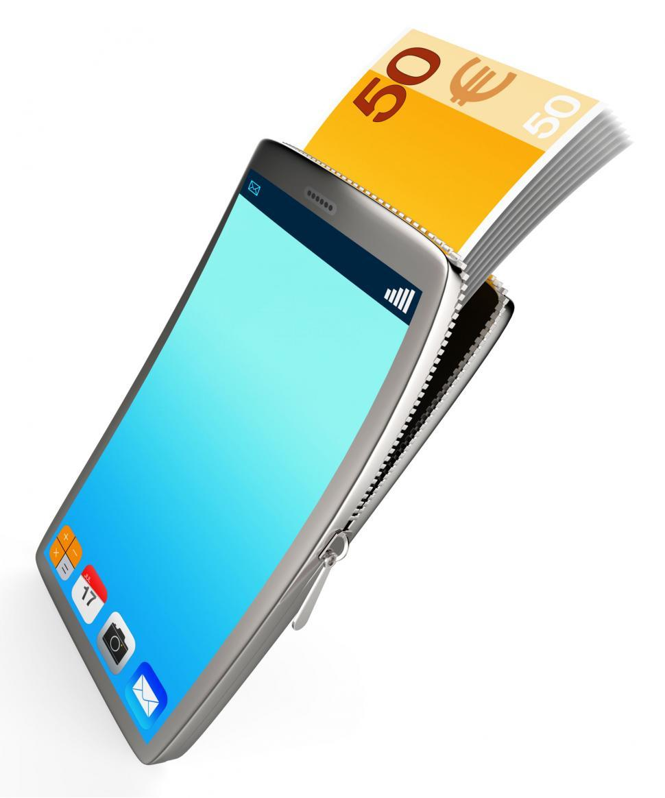 Download Free Stock HD Photo of Phone With Copyspace Represents Cash Online And Banking Online