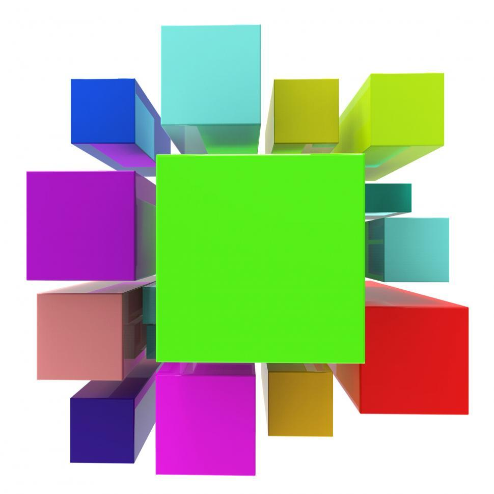 Download Free Stock HD Photo of Blocks Background Means Empty Space And Abstract Online