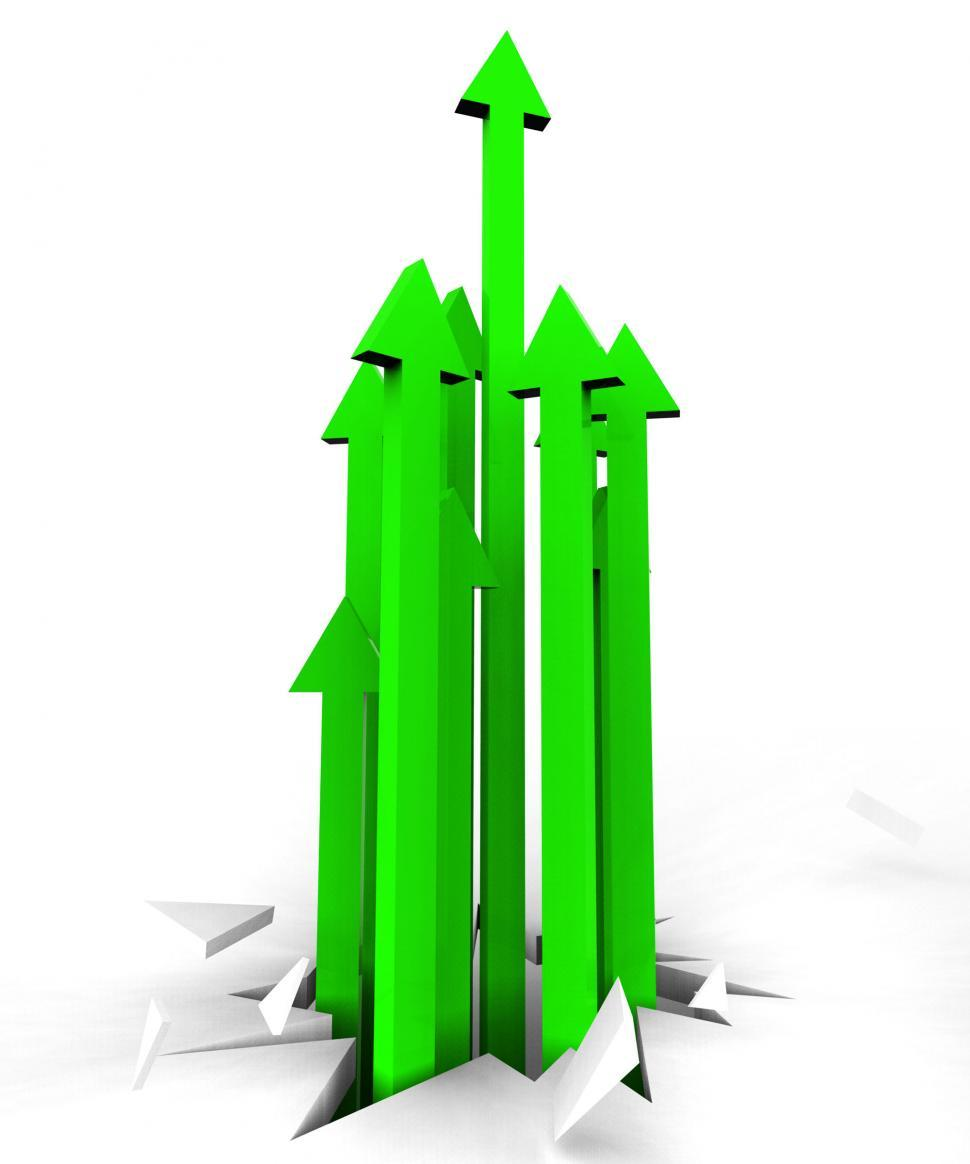 Download Free Stock HD Photo of Arrows Up Represents Improvement Advance And Pointing Online