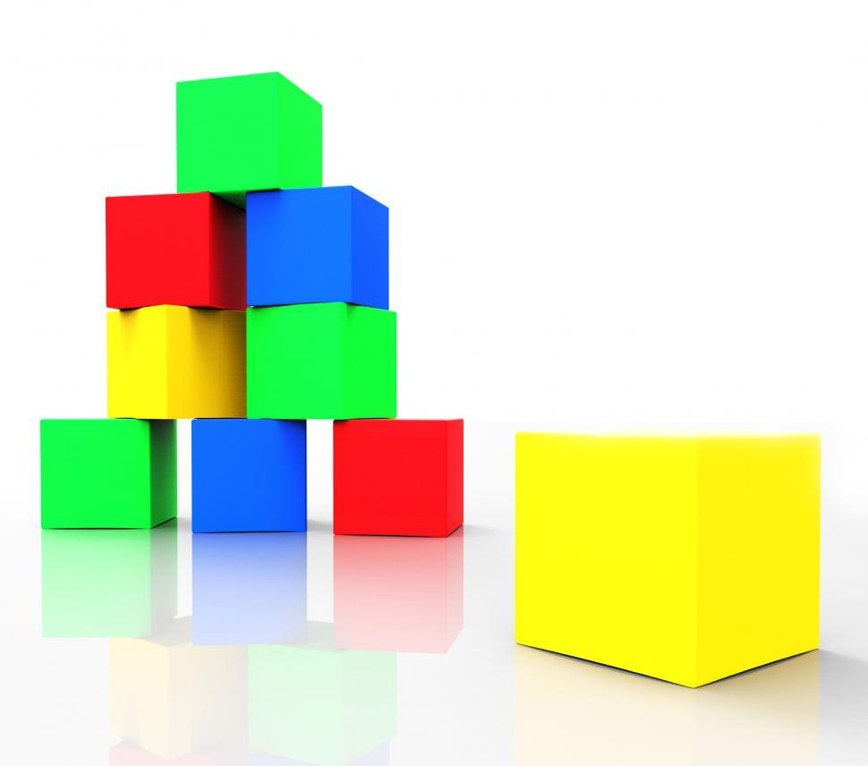 Download Free Stock HD Photo of Kids Blocks Indicates Colors Cube And Spectrum Online