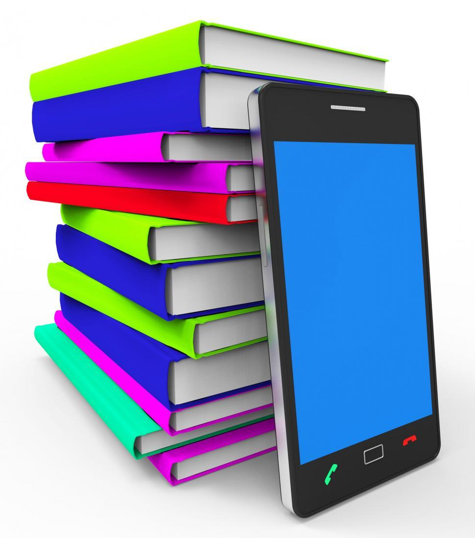 Download Free Stock HD Photo of Phone Knowledge Online Indicates World Wide Web And Book Online
