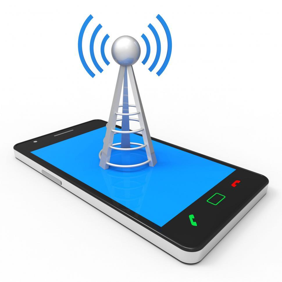 Download Free Stock HD Photo of Wifi Hotspot Shows World Wide Web And Antenna Online