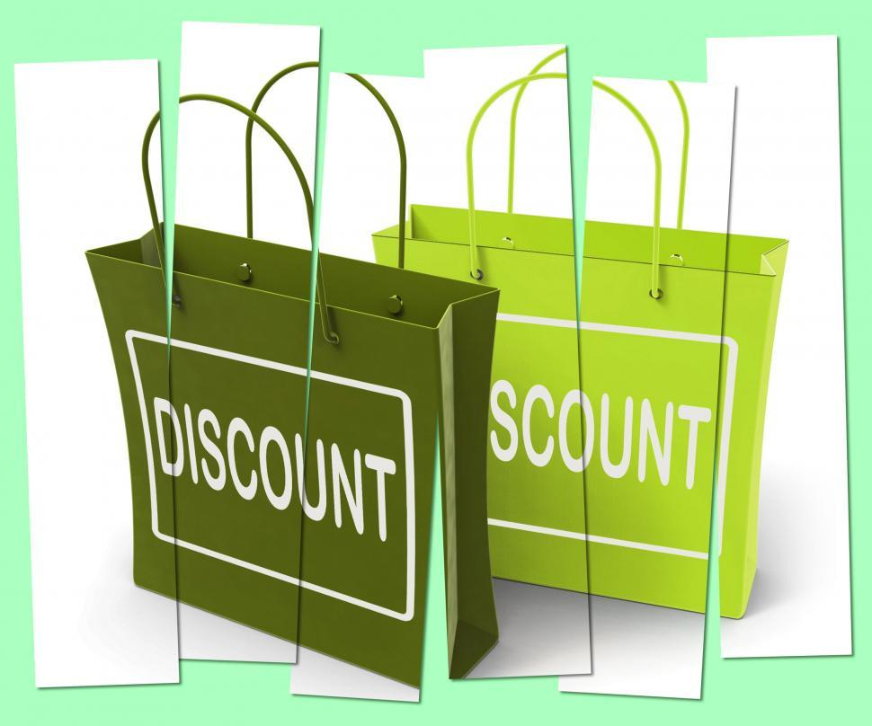 Download Free Stock HD Photo of Discount Shopping Bags Show Bargains and Markdown Products Online