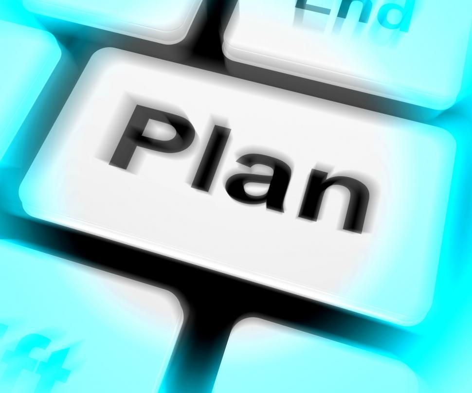 Download Free Stock HD Photo of Plan Keyboard Shows Objectives Planning And Organizing Online