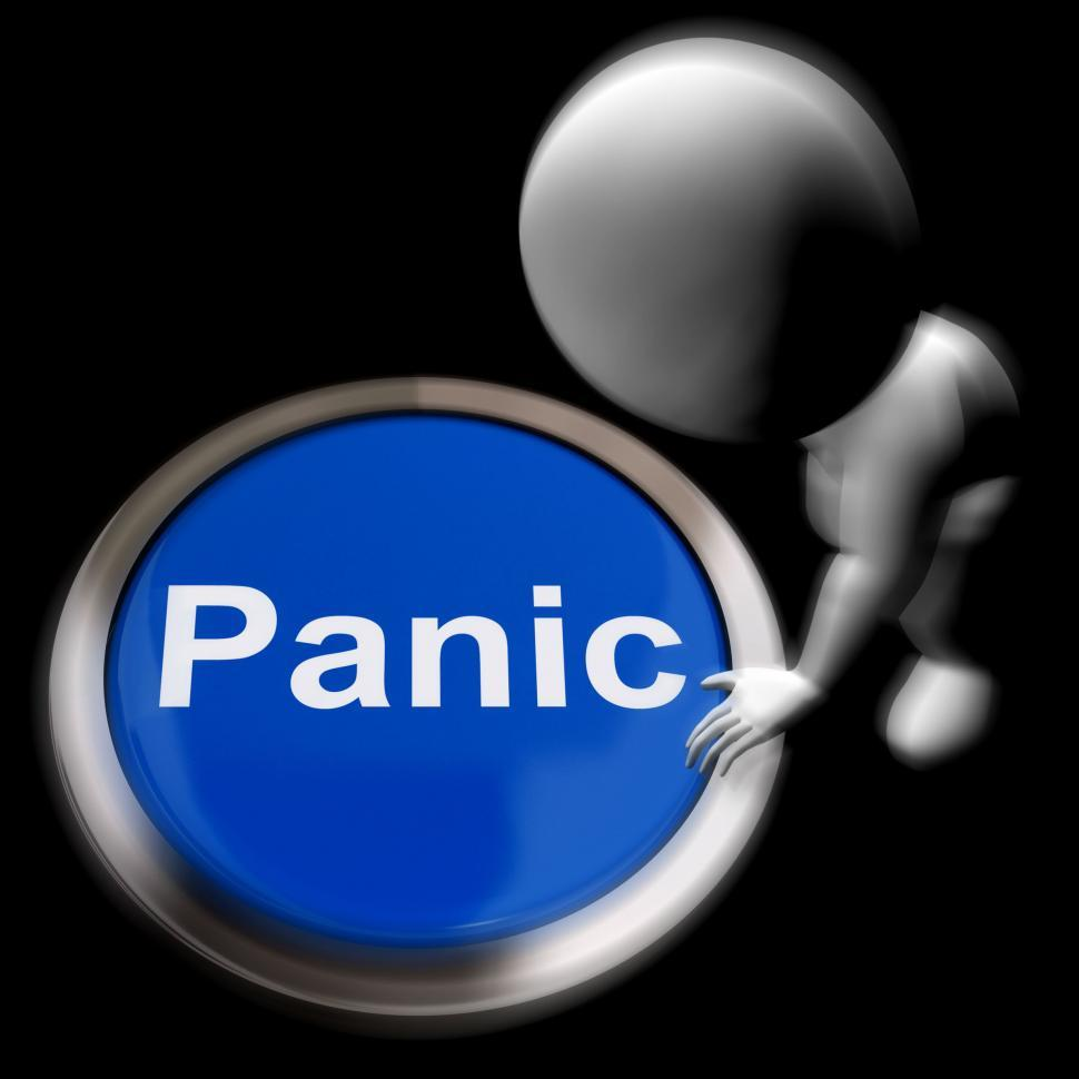 Download Free Stock HD Photo of Panic Pressed Shows Alarm Distress And Crisis Online