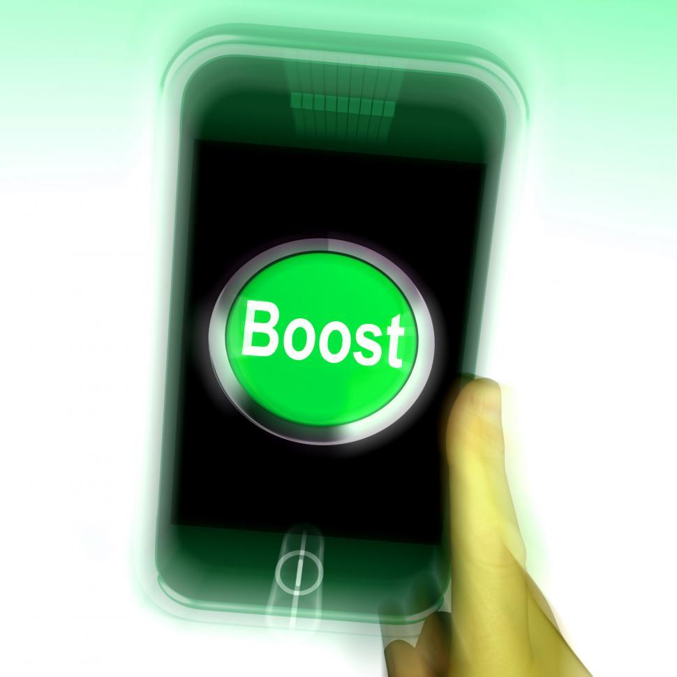 Download Free Stock HD Photo of Boost Mobile Means Improve Efficiency And Performance Online