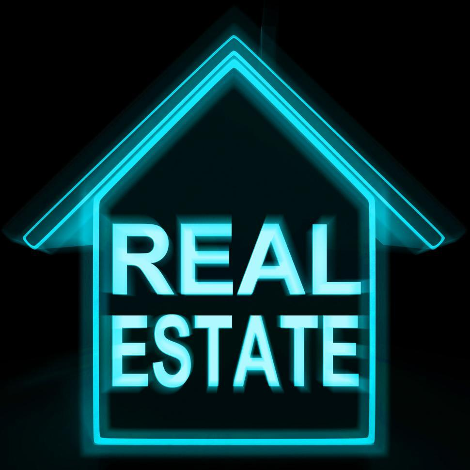 Download Free Stock HD Photo of Real Estate Home Shows Selling Property Land Or Buildings Online