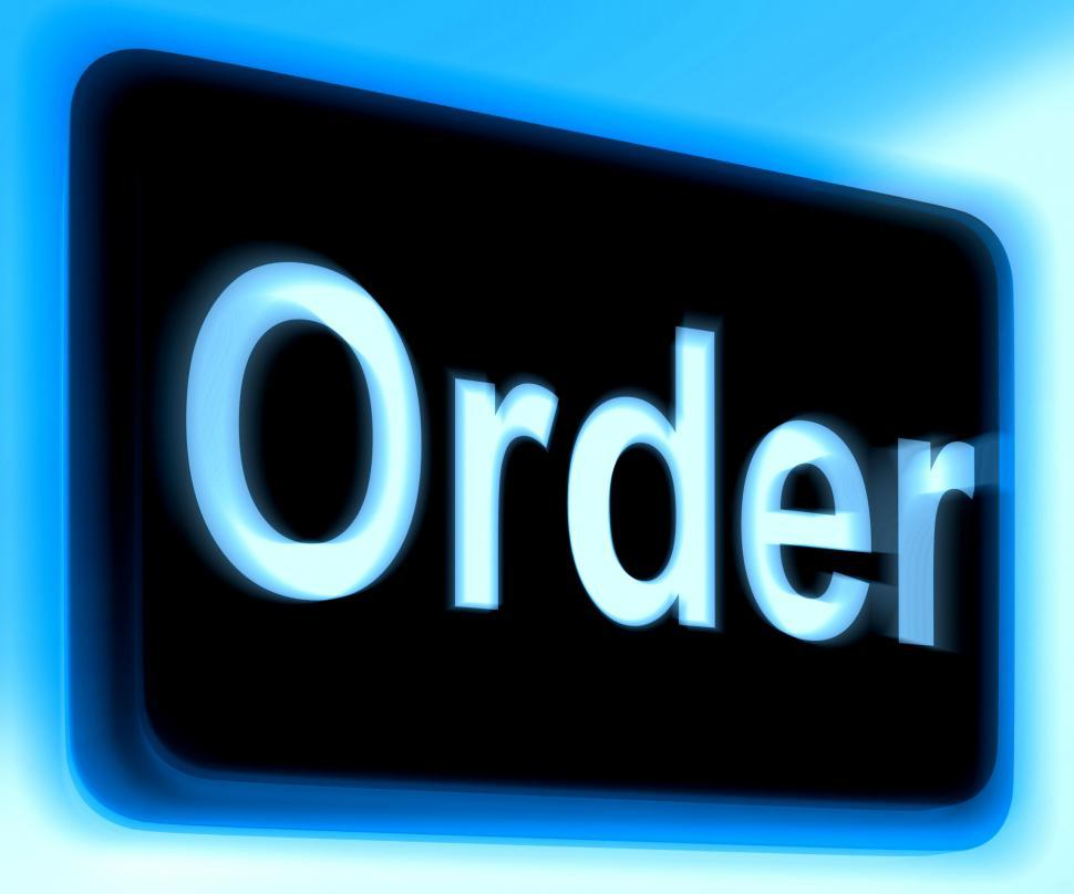 Download Free Stock HD Photo of Order Sign Shows Buying Online In Web Stores Online