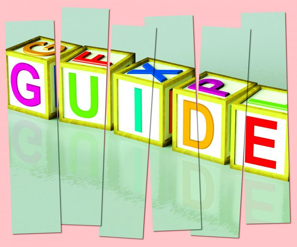 Download Free Stock HD Photo of Guide Word Show Advice Assistance And Recommendations Online